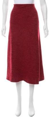 Salvatore Ferragamo Cashmere & Silk Midi Skirt