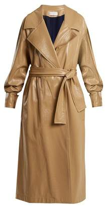 BEIGE Wanda Nylon - Oversized Coated Trench Coat - Womens