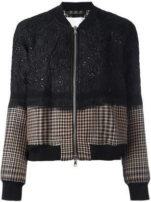 3.1 Phillip Lim floral cloqué bomber jacket
