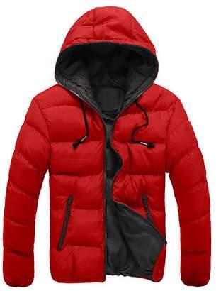 Mens Coats Winter Sale Liraly Men's Slim Warm Jacket Hooded Thick Coat Parka Overcoat Hoodie( ,US-L/CN-L2)