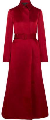 The Row Neyton Silk-satin Coat - Red