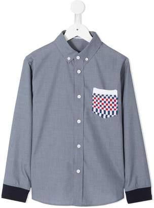 Familiar checkerboard pocket shirt