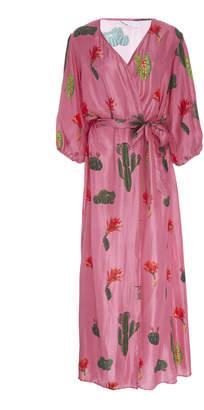Carolina K. Donna Printed Silk Robe