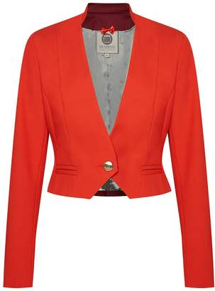 Menashion - Short Blazer No. 504 cherry tomato