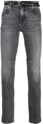 RtA 119 belted skinny jeans