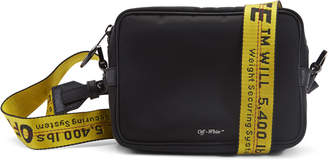 Off-White Off White Crossbody Nylon Leather Trim Black Yellow