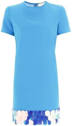 Sara Battaglia embellished hem T-shirt dress