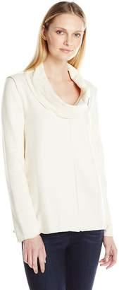 Neon Buddha Women's Playful Cowl Neck Pullover Top