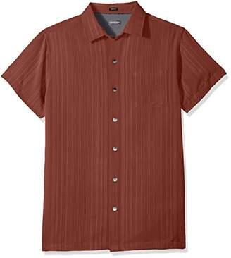Van Heusen Men's Short Sleeve Button Down Printed Rayon Shirt