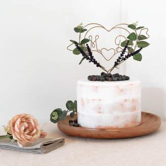 LOFT The Letter Dark Lavender Wedding Cake Topper