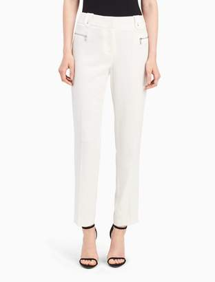 Calvin Klein straight fit zip ankle pants