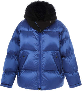 Yves Salomon Paris Shearling-Trimmed Puffer Coat