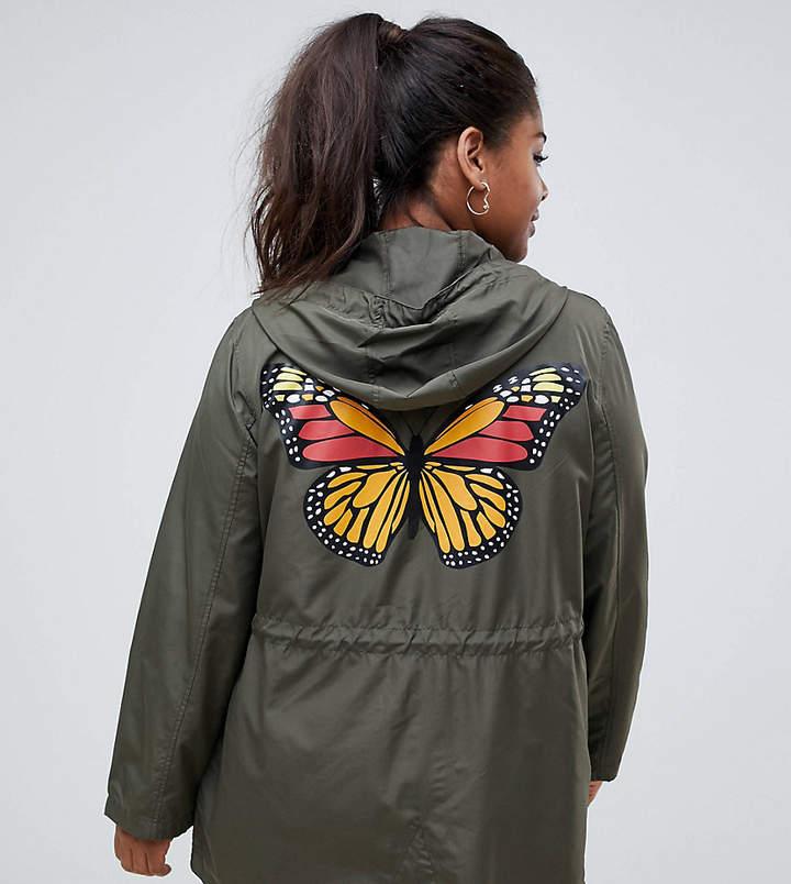 Plus flutterby lightweight coat