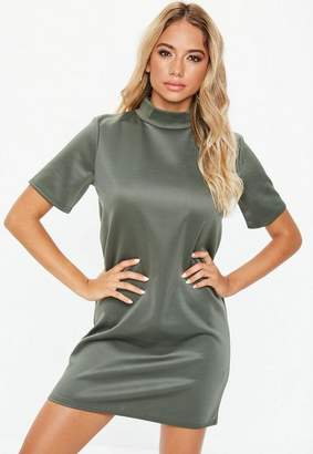 Missguided High Neck Shift Dress