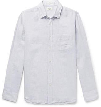 Hartford Storm Slim-Fit Striped Linen Shirt
