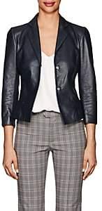 Narciso Rodriguez Women's Leather Jacket - Navy