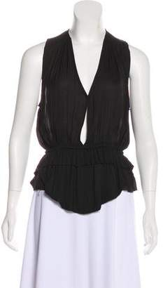 Isabel Marant Plunging Sleeveless Top