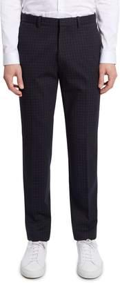 Theory Payton Regular Fit Check Ponte Pants