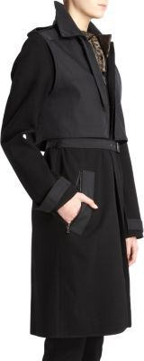 Lanvin Contrast Panel Trench