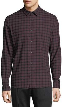 Vince Men's Gingham-Plaid Button-Front Long-Sleeve Casual Shirt