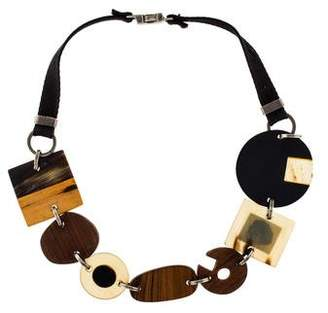 Marni Wood, Resin & Horn Link Necklace
