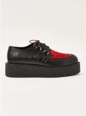 Topman Mens Red Wedge Platform Shoes