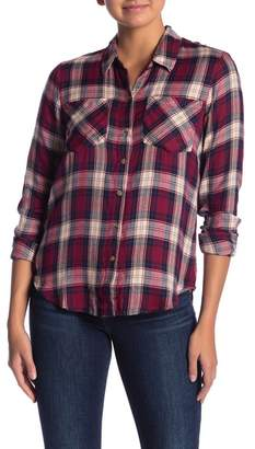 Lucky Brand Boyfriend Long Sleeve Plaid Button Down Shirt