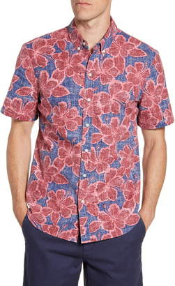 Reyn Spooner Hibiscus Orchard Tailored Fit Floral Short Sleeve Button-Down Shirt