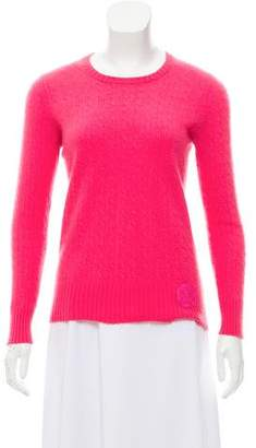 Tory Burch Cable Knit Crew Neck Sweater