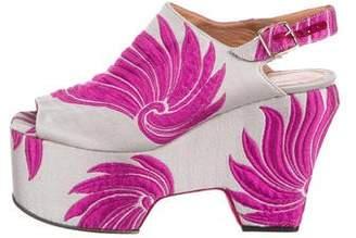 Dries Van Noten Satin Platform Sandals