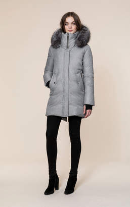 Soia & Kyo AUGUSTINE-FX brushed down coat with removable fur