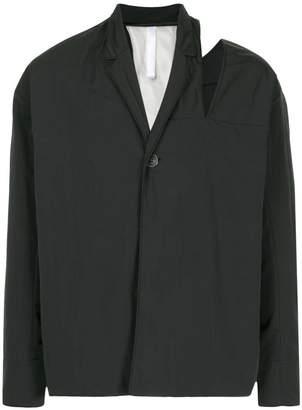 Cottweiler cut-out shoulder jacket