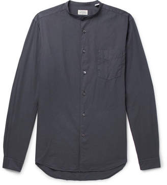 Hartford Premium Pat Grandad-Collar Cotton Shirt