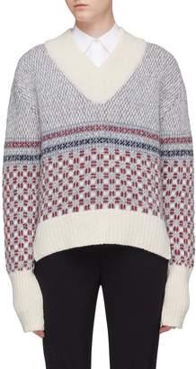 Thom Browne Crab geometric intarsia wool-mohair sweater