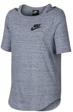 Nike Girl's Heathered Short-Sleeve Top