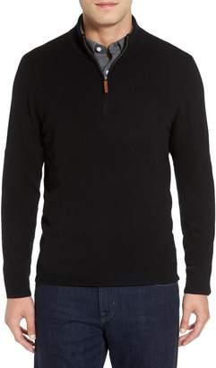 Nordstrom Cashmere Quarter Zip Sweater