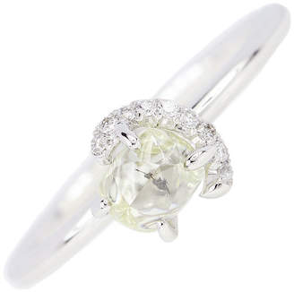 Diamond in the Rough 18k Gold & Rough Diamond Champagne Bubbles Solitaire Ring