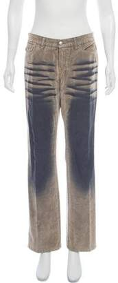 Just Cavalli Mid-Rise Wide-Leg Pants