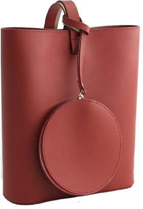 Brix And Bailey Burgundy Leather Tote
