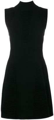Versace sleeveless textured dress