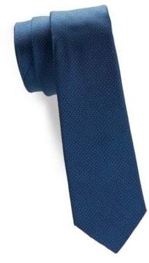 Black & Brown Black Brown Textured Silk Tie