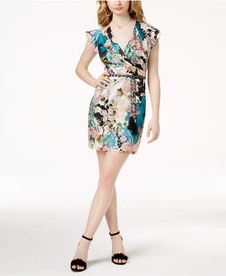 GUESS Floral-Print Surplice Dress