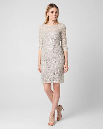 Le Château Guipure Lace Illusion Cocktail Dress