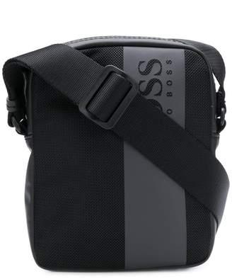 HUGO BOSS logo zipped messenger bag