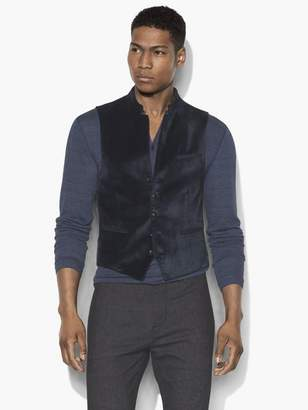 John Varvatos Multi-Button Velvet Vest