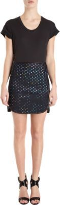 Cynthia Rowley A-Line Dotted Skirt