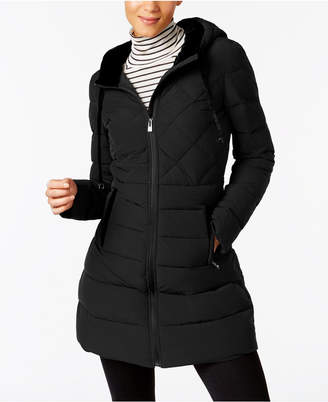 INC International Concepts I.n.c. Velvet-Trim Puffer Coat, Created for Macy's