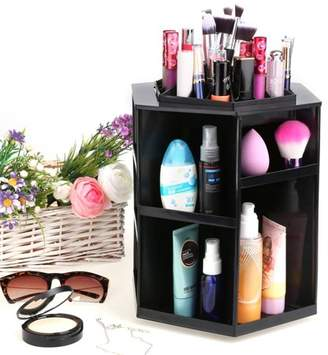 Hifashion 360 Degree Rotating Make Up Desktop Storage Box Display Organizer Case HITC