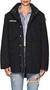 """Ambush Women's """"Holy Places"""" Cotton Canvas Field Jacket-Black"""