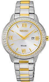 Seiko Women's Stainless Solar Two-tone Watch $275 thestylecure.com